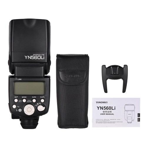 YONGNUO YN560Li Wireless Master Slave Flash Speedlite GN58 Ultrafast Charging Recycle System Supports USB Firmware Upgrade