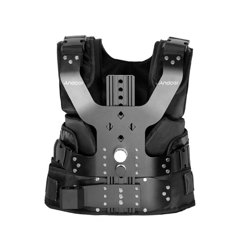 Andoer B200-C1 Pro Video Studio Photography Aluminum Alloy Load Vest Rig 16mm Single Damping Arm Support Shoulder Stabilization for Steadycam Handheld Stabilizer DSLR Camera Camcorder Film Movie Making Load Capacity 5-8kg/11-17.6Lbs