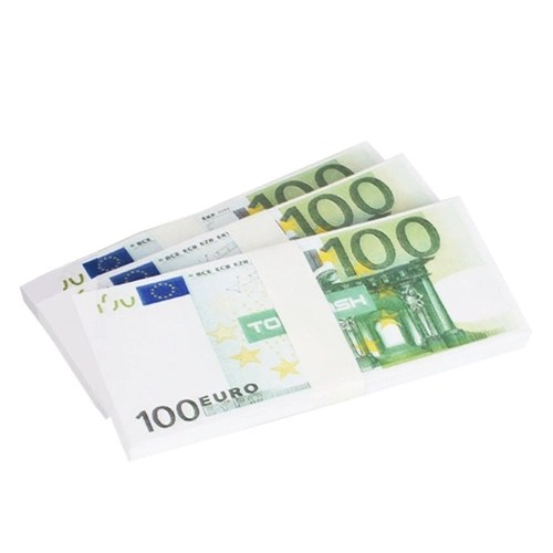 200 PCS Realistic Fake Play Money Photography Pounds Euro Notes Training Collect Learning Banknote Double-Sided Printing Atmosphere Props