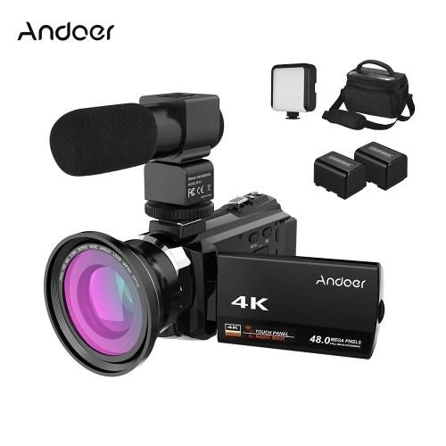 Andoer 4K Camcorder 1080P 48MP WiFi Digital Video Camera