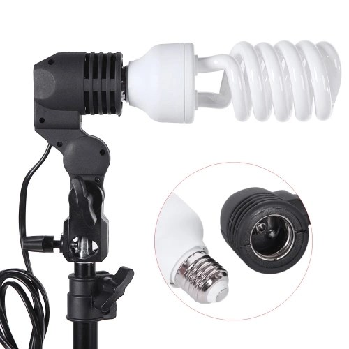 professional photography photo lighting kit set with 45w 5500k daylight studio bulbs light stands black white green nonwoven fabric backdrop soft