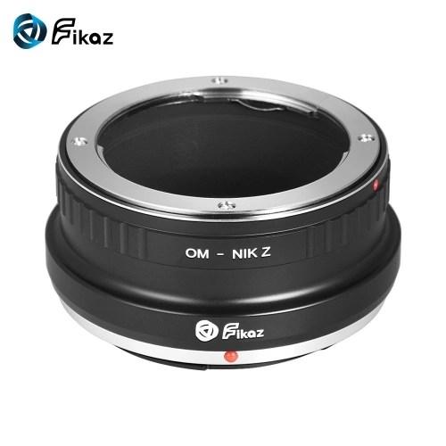 Fikaz High Precision Lens Mount Adapter Ring Aluminum Alloy for Olympus OM Lens to Nikon Z6 Z7 Z-Mount Mirrorless Camera OM-NIKZ