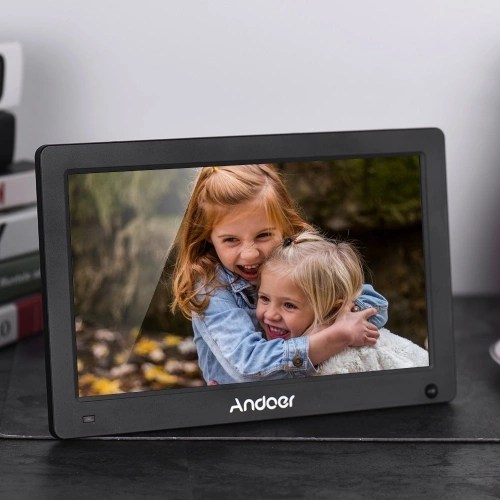 Andoer 11.6 Inch Digital Photo Frame IPS Full View Screen Eletronic Picture Album High Resolution 1920*1280(16:10) Support 1080P HD Video AV Input Clock with Motion Sensor Remote Control White US Plug