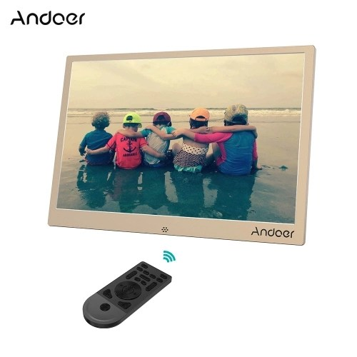 Andoer 13inch Aluminum Alloy LED Digital Photo Frame