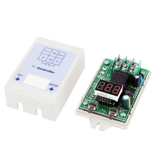 12V 24V DC LED Display Digital Voltage Meter Test Control Relay Timer Time Delay Switch Module with Case
