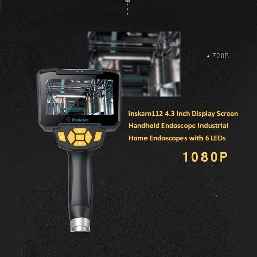inskam112 4.3 Inch Display Screen Handheld Endoscope 10meters