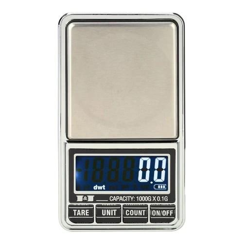 Professional Mini Digital Scale Jewelry Electronic Pocket Scale Precision Balance 600g*0.01g / 1000g*0.1g