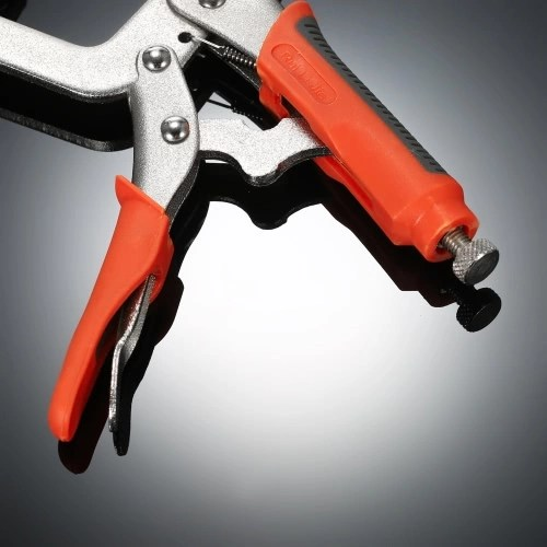 6 Locking C-Clamp Pliers with Rubber Grip Quick Release Clamp Hand Tool