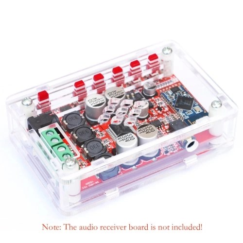 Acrylic DIY Case Cover Shell for TDA7492P 2*25W Wireless BT 4.0 Audio Receiver Amplifier Board Module with AUX Interface