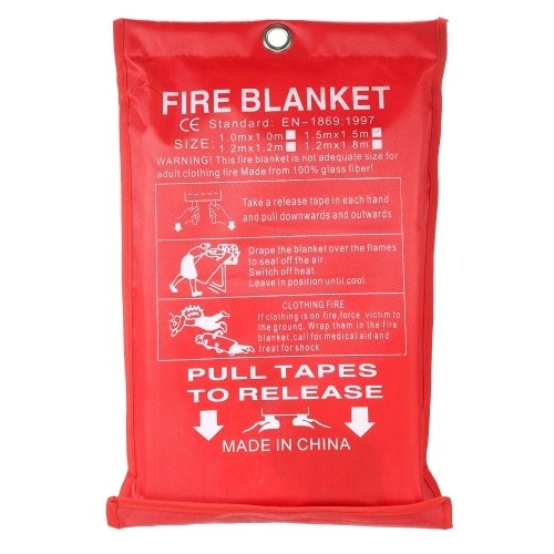 1M*1M Fiberglass Fire Blanket for Emergency Survival Fire Fighting Shelter Safety Shield