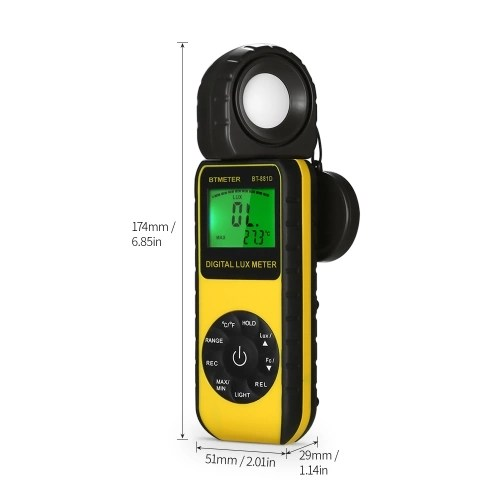 BTMETER BT-881D Digital Lux Meter Handheld Luxmeter Lux/FC Luminometer Photometer Measure Tester