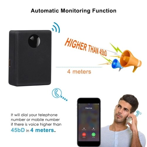 N9 2 Mic Automatic Monitoring Listening Devices in Acoustic Alarm Mini Elderly and Children Caring Device Voice System