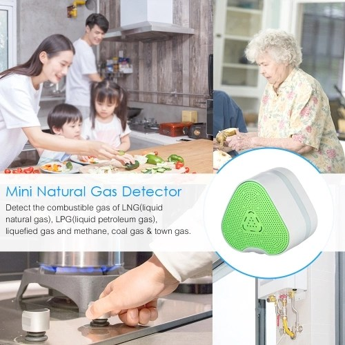Mini Natural Gas Detector Combustible Gas Leakage Alarm Monitor Sniffer