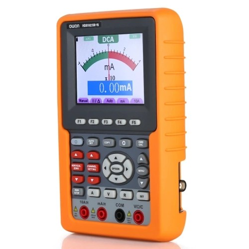 Owon HDS1021M-N Single Channel Oscilloscope Handheld Oscilloscopes Digital Storage Oscilloscope & Multimeter 20MHz Bandwidth 500M/s Sampling Rate