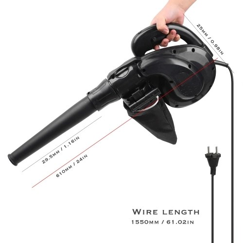 KKmoon 1180W Small Electric Air Blower Kit Computer Cleaner High Power Blowing Dust Tool Set Household Industry Cleaner Suck Blow Dust Remover 220V