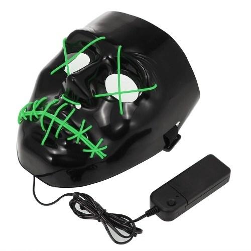 Halloween Mask EL Wire LED Light Mask
