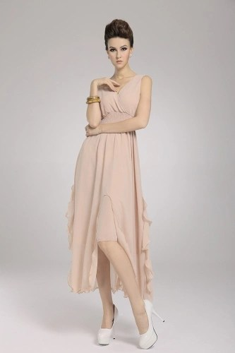 2013 New Beach Bohemian Womens Dress Chiffon V Neck Long Maxi Dress Ball Evening Party Skin