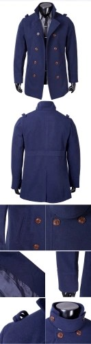 Abody Mens Stylish Double Breasted Trench Coat Jacket Outwear