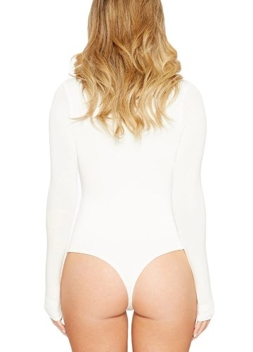 Women Long Sleeve Playsuit Rompers Solid Bodysuits Skinny Jumpsuits Night Clubbing Bodycon Overalls