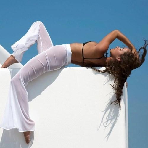 Sexy Women Sheer Mesh Wide Leg Pants Flare Pants High Waist Solid Palazzo Bell Bottom Pants Black/White