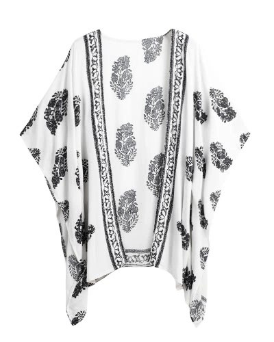 New Women Summer Kimono Cardigan Bikini Cover Up Floral Beach Robe Kaftan Boho Blouse Top Beachwear