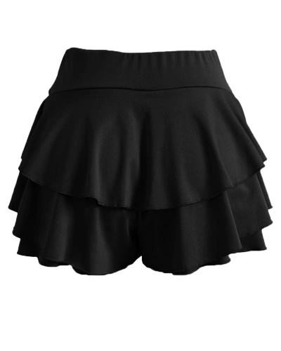 New Fashion Women Mini Pleated Layer Skirt Micro Sleepwear A-Line High Waist Vintage Party Swing Skirt