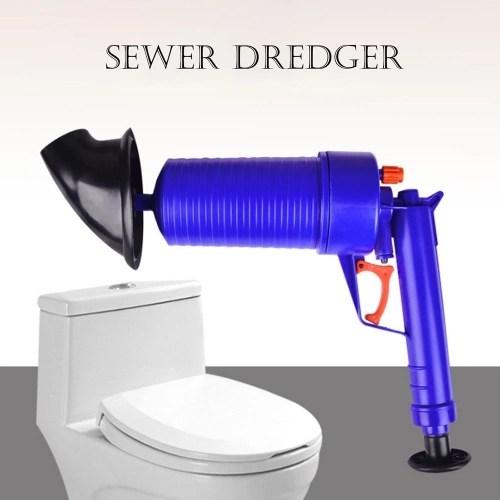 Air Power Drain Blaster Tool High Pressure Powerful Manual Sink Plunger Opener Cleaner Pump For Toilets Bathroom