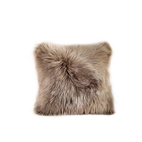Fluffy Solid Color Warm Soft Plush Pillow Case Waist Throw Cushion
