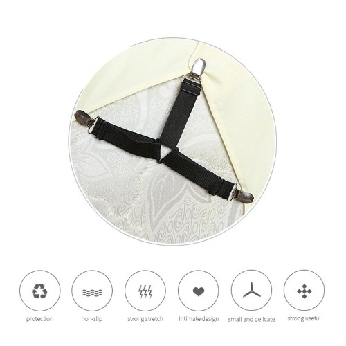 1PCS White Adjustable Triangle Bed Sheet Fasteners