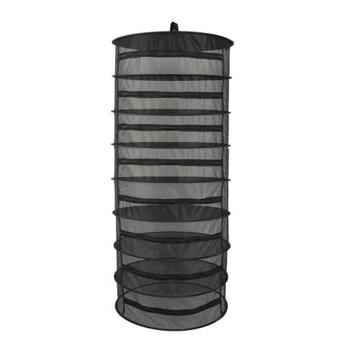 Hanging Basket 4 Layers with Zipper Folding Dry Rack Herb Drying Net Dryer Bag Mesh