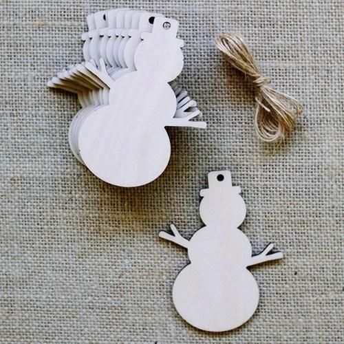 10pcs Christmas Tree Decorations Wooden Pendants Crafts