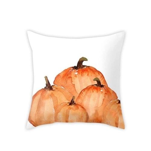 Watercolor Pumpkin Throw Pillow Covers
