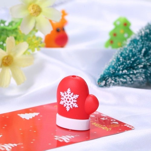 Cute Christmas Themed Cable Bite USB Charging Protector Cover