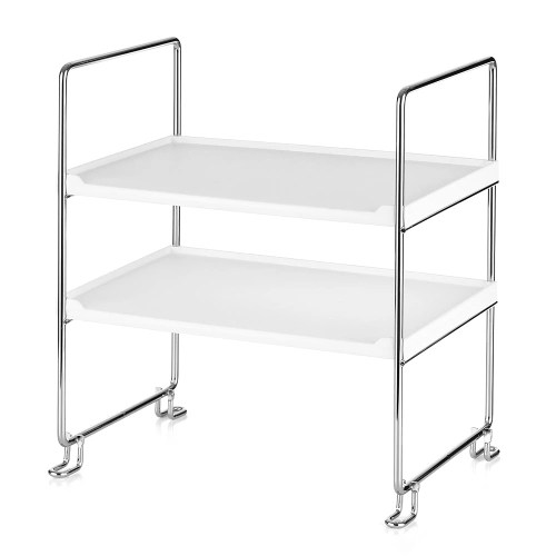 2-Tier Freestanding Stackable Organizer Shelf