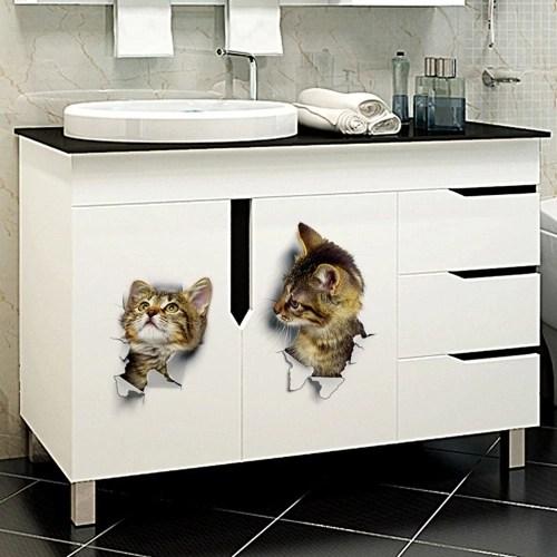 Vivid 3D Cat Wall Sticker