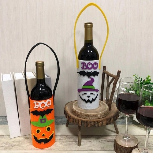 Halloween Non-Woven Wine Bottle Bag Candy Bag with Handle