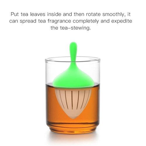 Tea Infuser Strainer Silicone Gyro Filters Rotating Floating Function