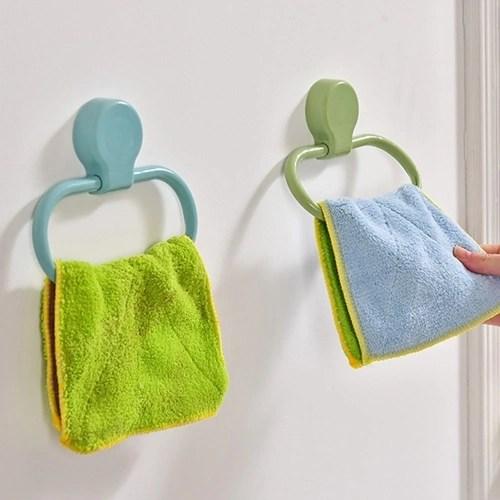 Kitchen Bathroom Accessories Towel Ring Rack