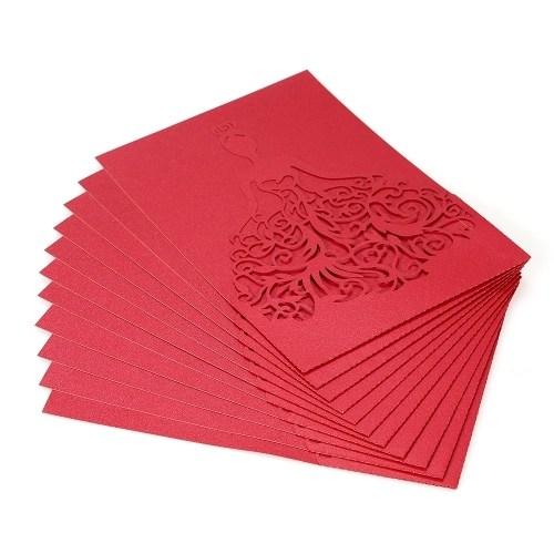20pcs/set Wedding Invitation Cards Pearl Paper
