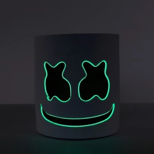 EVA Marshmello Wire LED Helmet Mask Cosplay Prop Mask