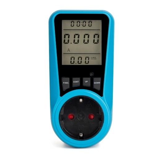 AC230V~250V LCD Display Electricity Usage Power Meter Socket