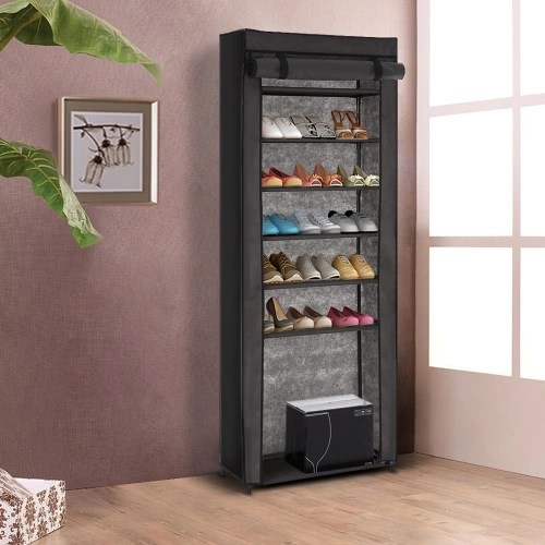 iKayaa Portable 7 Tier Shoes Organizer Rack Cabinet