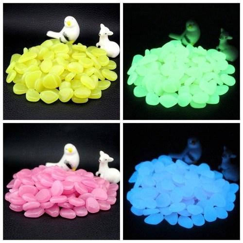 300pcs Glow in the Dark Garden Pebbles