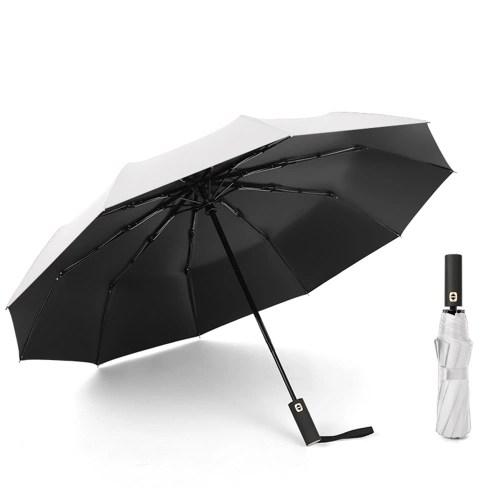 Auto Open/Close Windproof Travel Umbrella with UV Protection Tefloning Coating