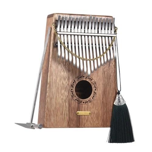 17-key Kalimba Thumb Piano Mbira Sanza Swartizia Spp Solid Wood Musical Gift
