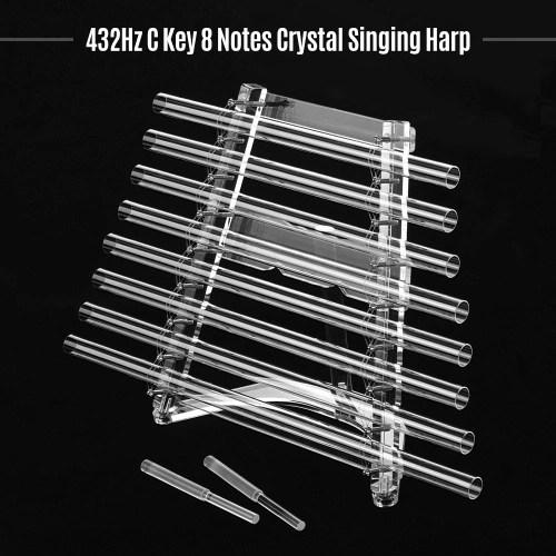 432Hz Crystal Singing Harp