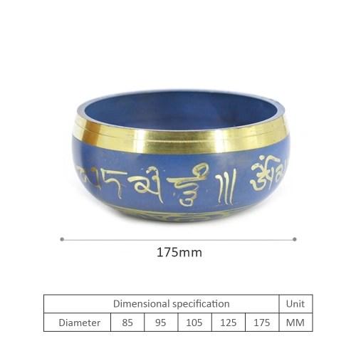 Blue Copper Buddha Sound Bowl Yoga Tibetan Singing Bowl