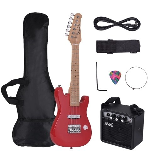 Muslady 28 Inch Kids Children ST Electric Guitar Kit
