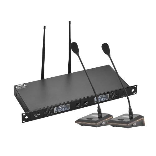 Muslady U-6002 Professional Dual-Channel UHF Wireless Microphone System