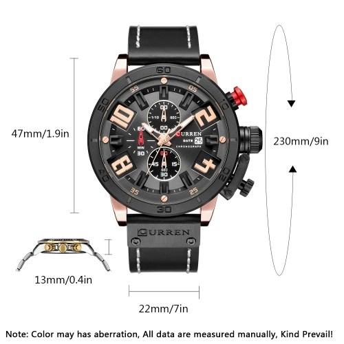 CURREN 8312 Quartz Men Gentlemen Brand Leather Watch
